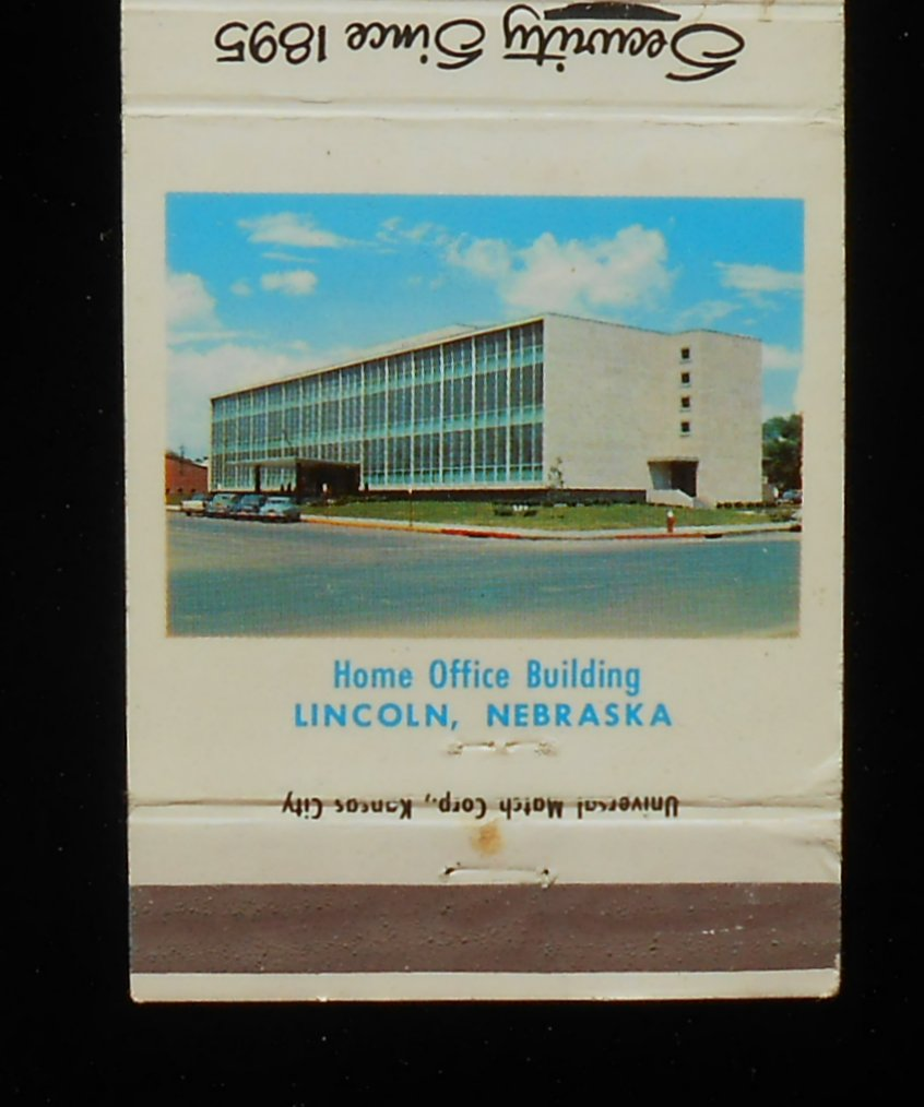 Cars Lincoln Ne: 1950s Matchbook The Security Mutual Life Insurance Company
