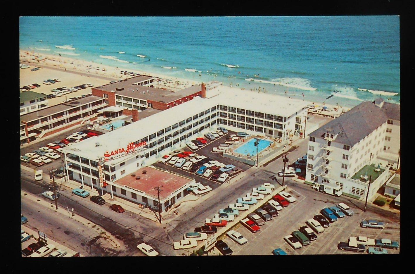 1960s aerial view seascape motel santa maria harrison hall for Blue sea motor inn