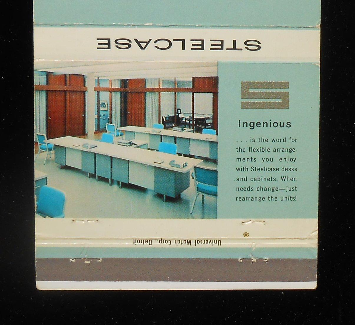 1960s Billboard Matchbook fice Furniture Steelcase Inc