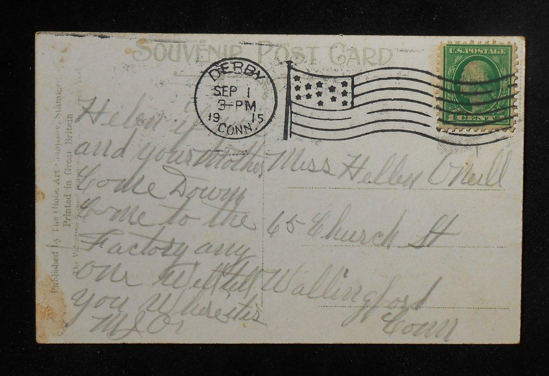 1915 naugatuck river boats derby ct new haven co postcard for Naugatuck glass company