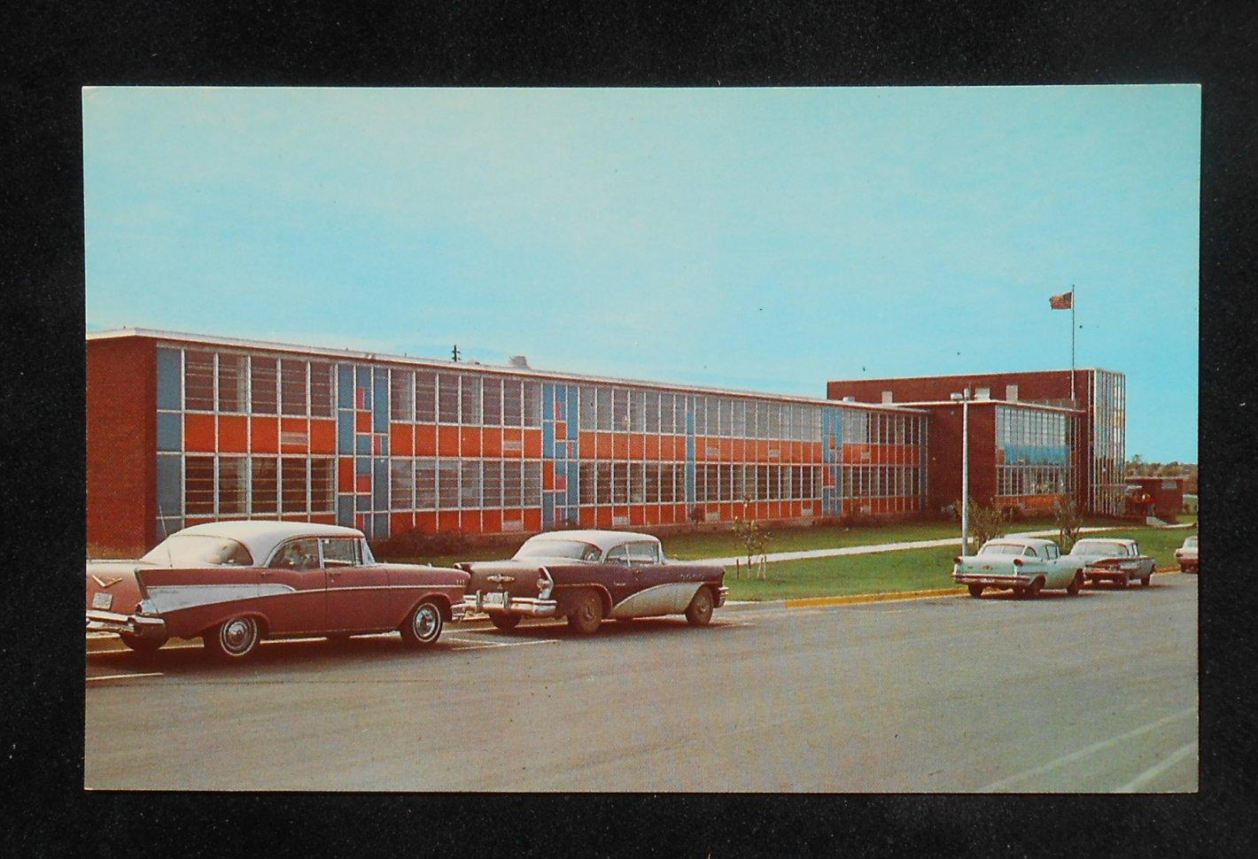 1950s high school old cars tupelo ms lee co postcard mississippi ebay. Black Bedroom Furniture Sets. Home Design Ideas