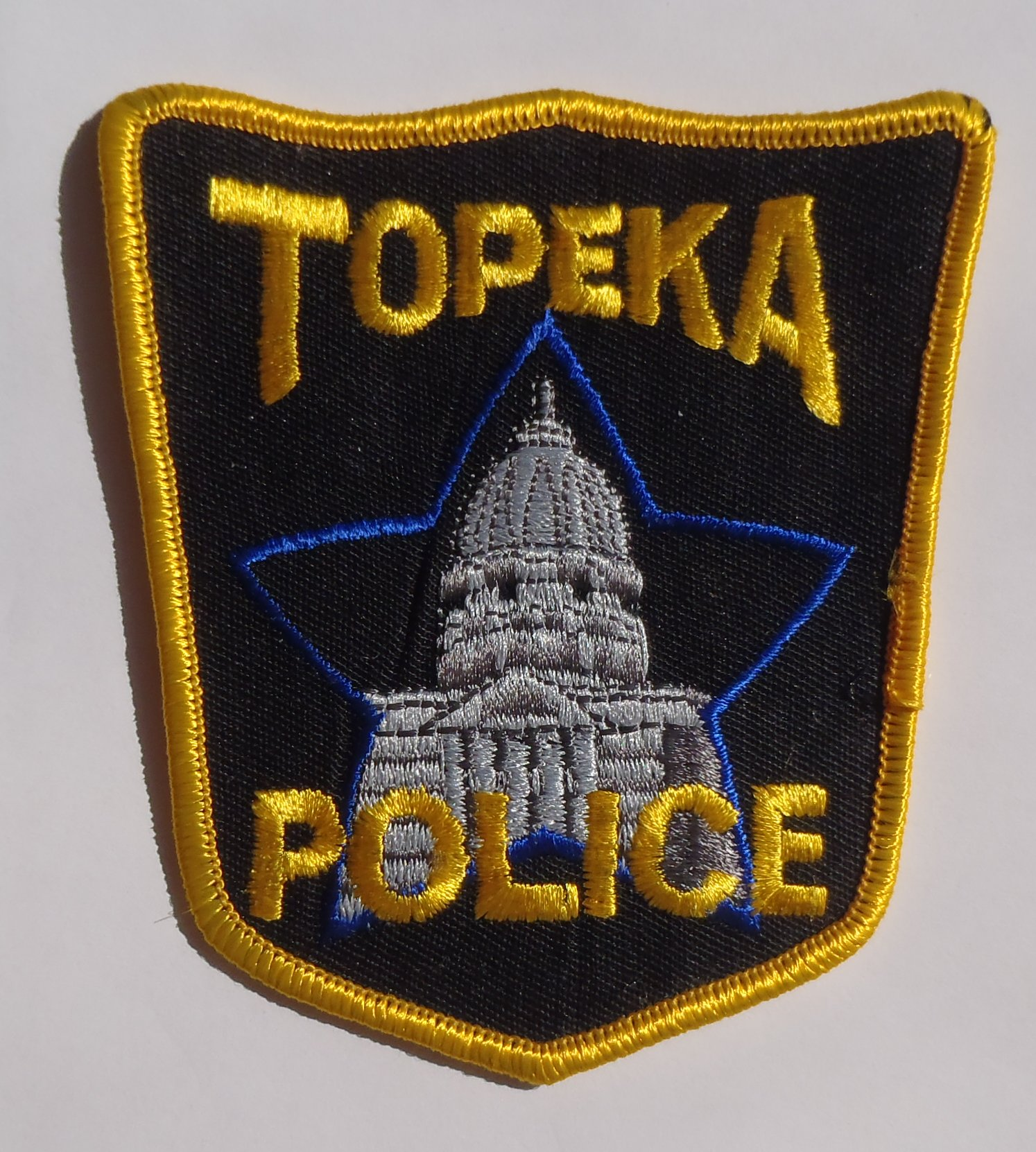 Embroidered Patch Police Department Shawnee County Topeka