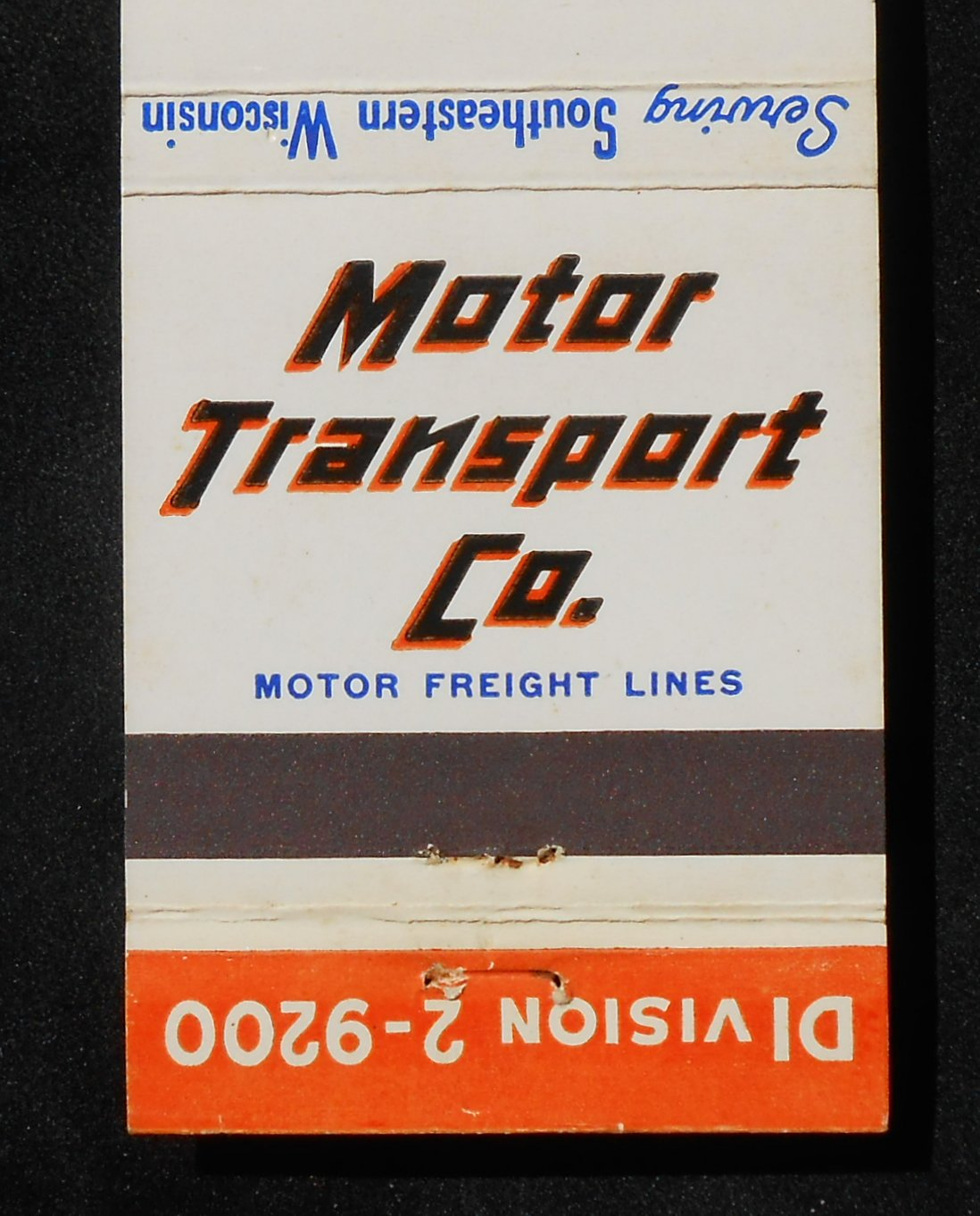 1950s matchbook motor transport co trucking southeastern Southeastern motor freight