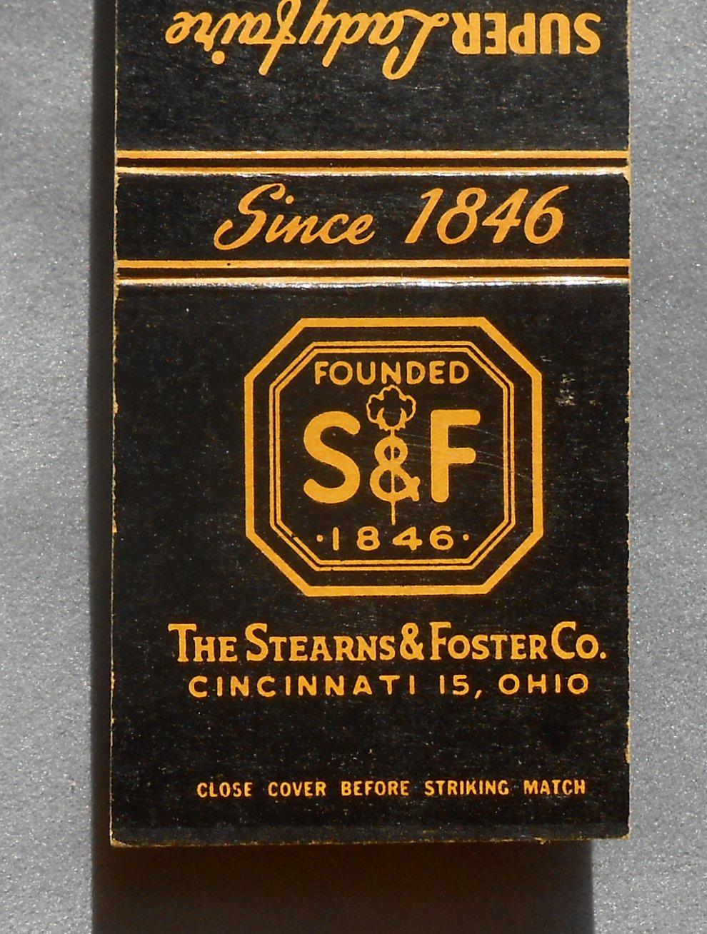1950s Matchbook Stearns Amp Foster Co Mattress S Amp F
