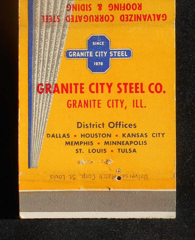 1950s Matchbook Strongbarn Roofing Siding Granite City