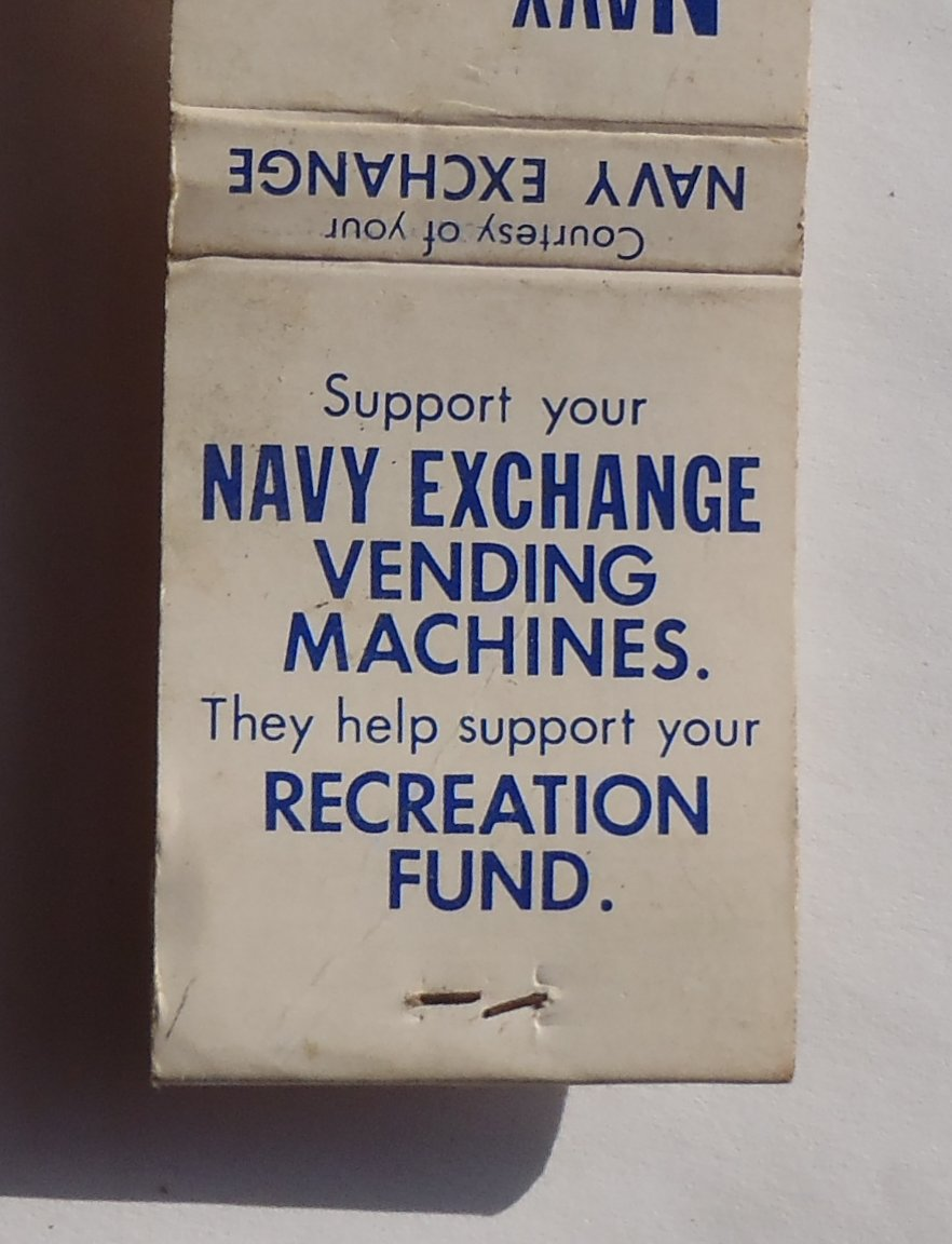 Details about 1970s? Matchbook Navy Exchange Vending Machines ...
