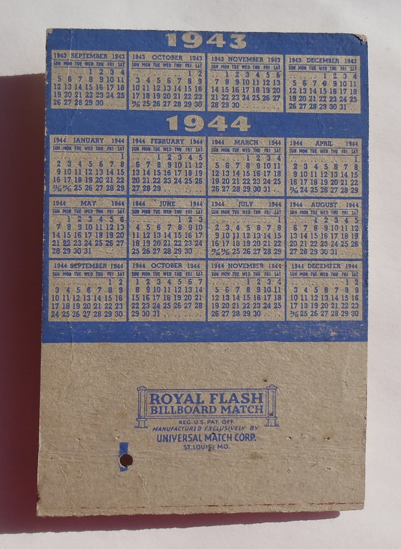 1943 Billboard Matchbook Letterman General Hospital Army