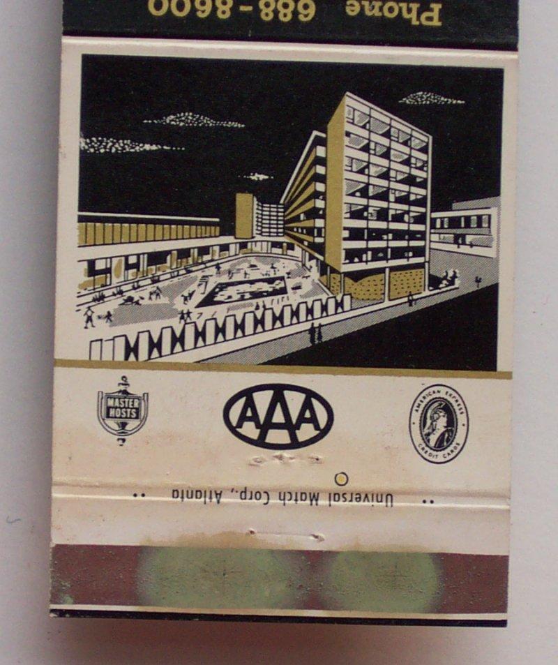 1960s Matchbook Americana Motor Hotel Atlanta Ga Fulton Ebay