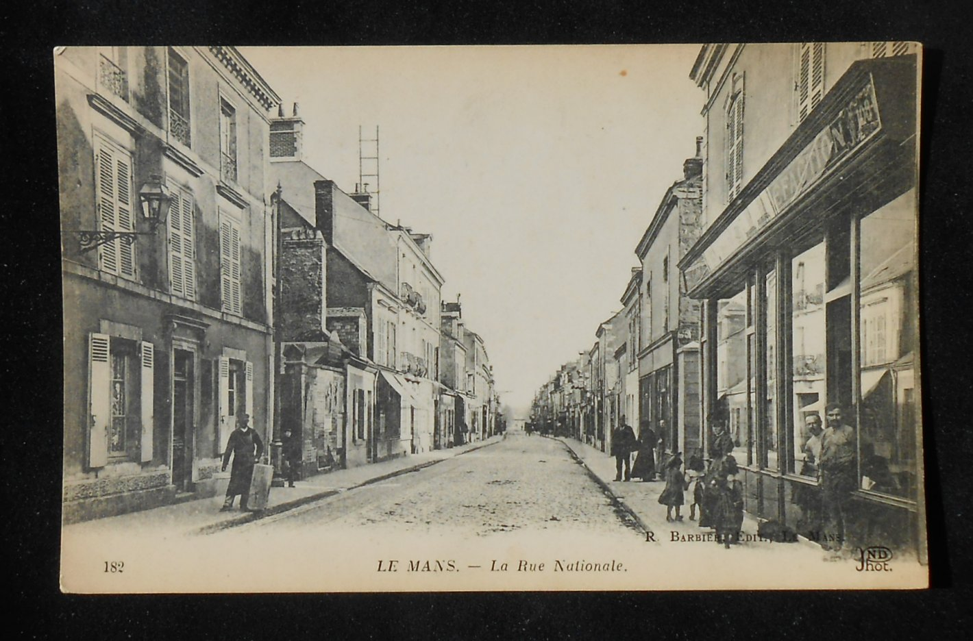 1910s la rue nationale old shops stores le mans france sarthe co postcard ebay. Black Bedroom Furniture Sets. Home Design Ideas