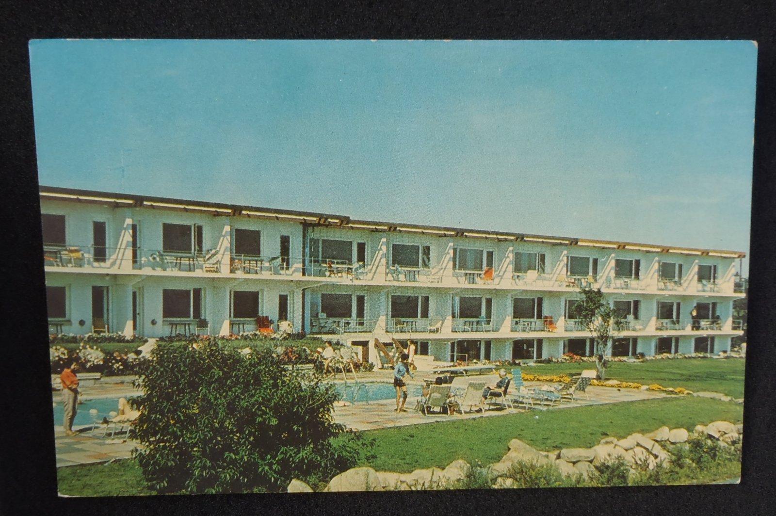 1960s atlantis motor inn gloucester ma essex co postcard