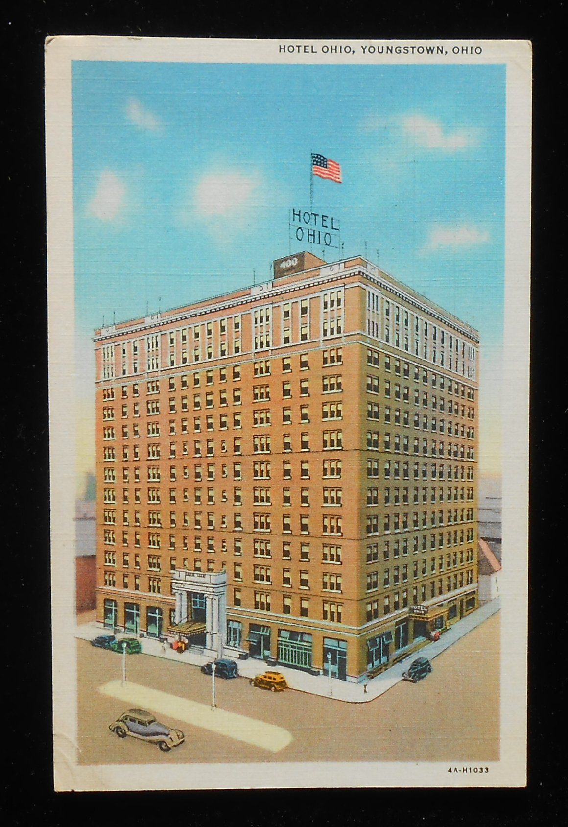 1937 hotel ohio youngstown oh mahoning co postcard. Black Bedroom Furniture Sets. Home Design Ideas