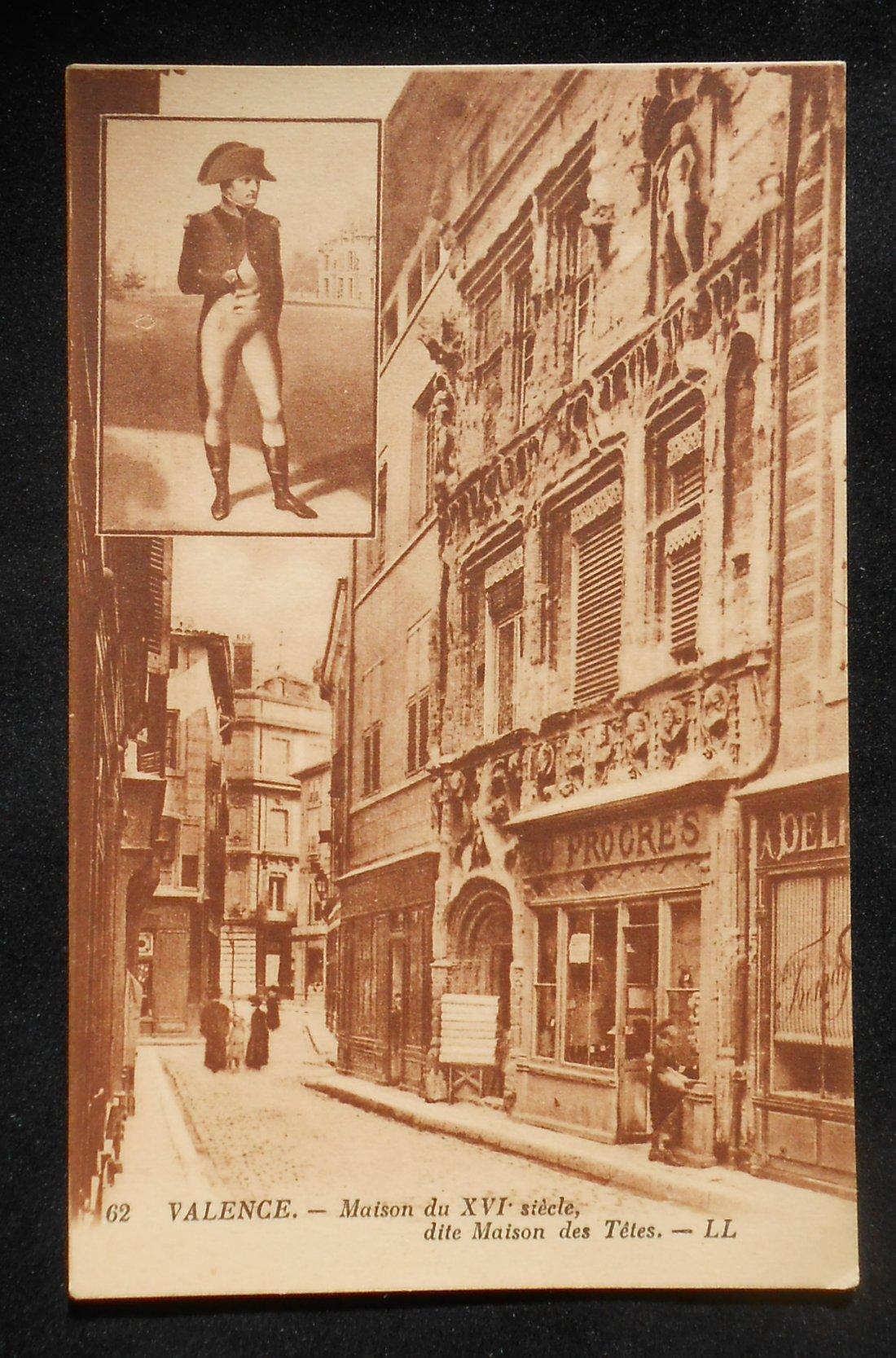 1910s maison du xvi siecle dite maison des t tes napoleon valence france dr me c ebay. Black Bedroom Furniture Sets. Home Design Ideas