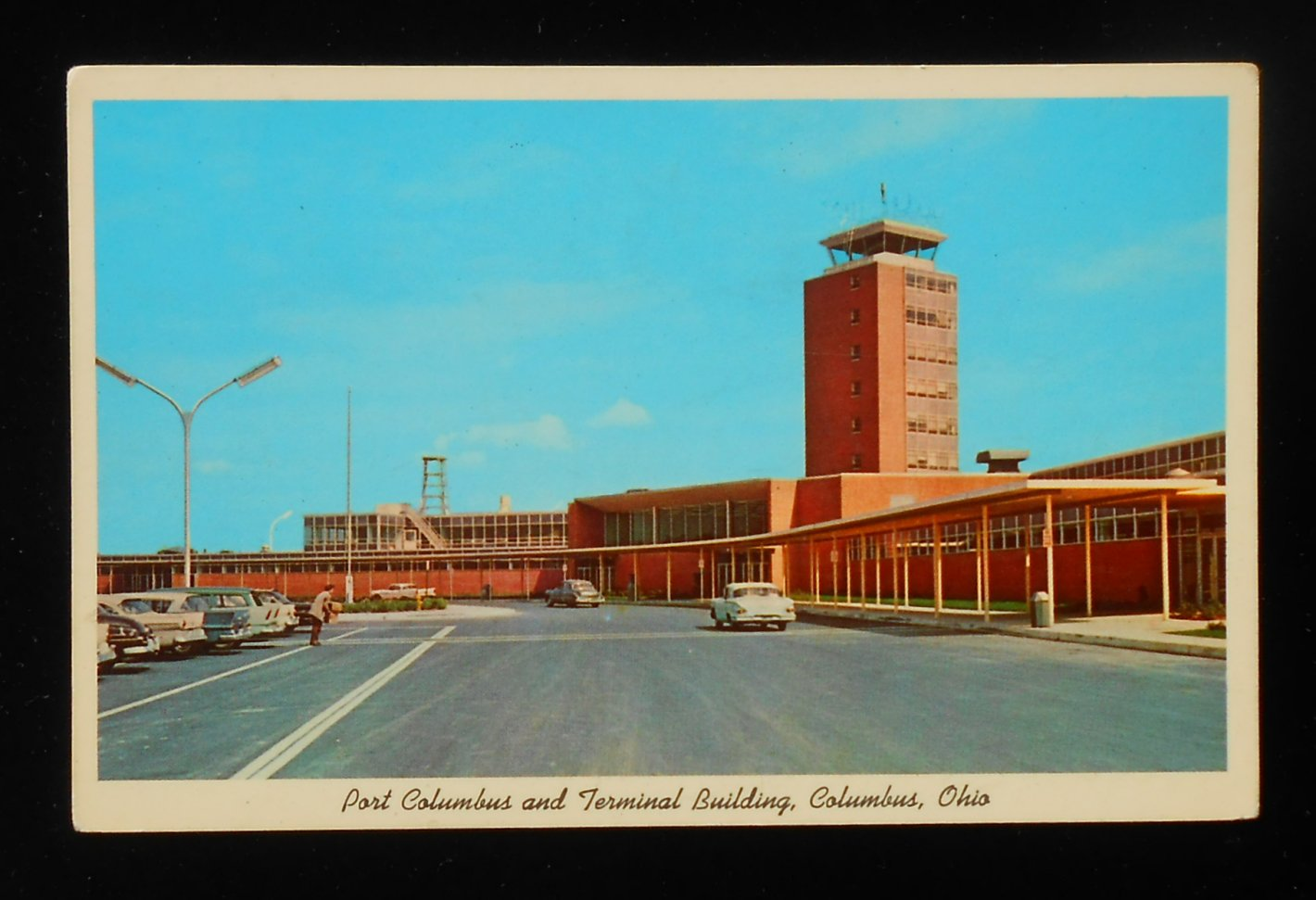 1960s port columbus and terminal building airport old cars columbus oh franklin ebay. Black Bedroom Furniture Sets. Home Design Ideas
