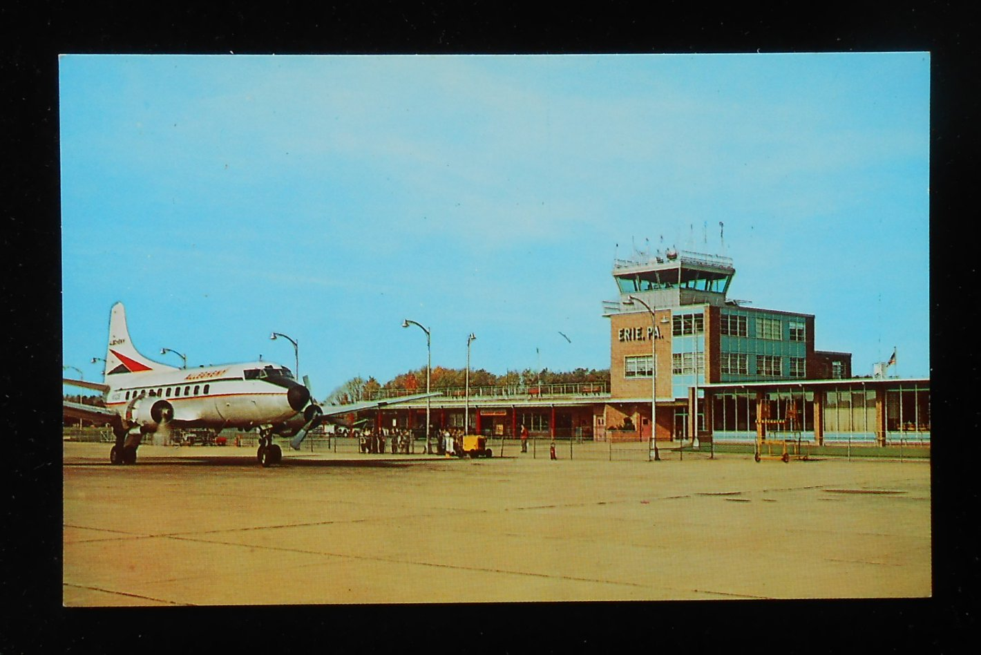 Pennsylvania Air Balloon Mail: 1960s Port Erie Air Terminal Airport Old Allegheny