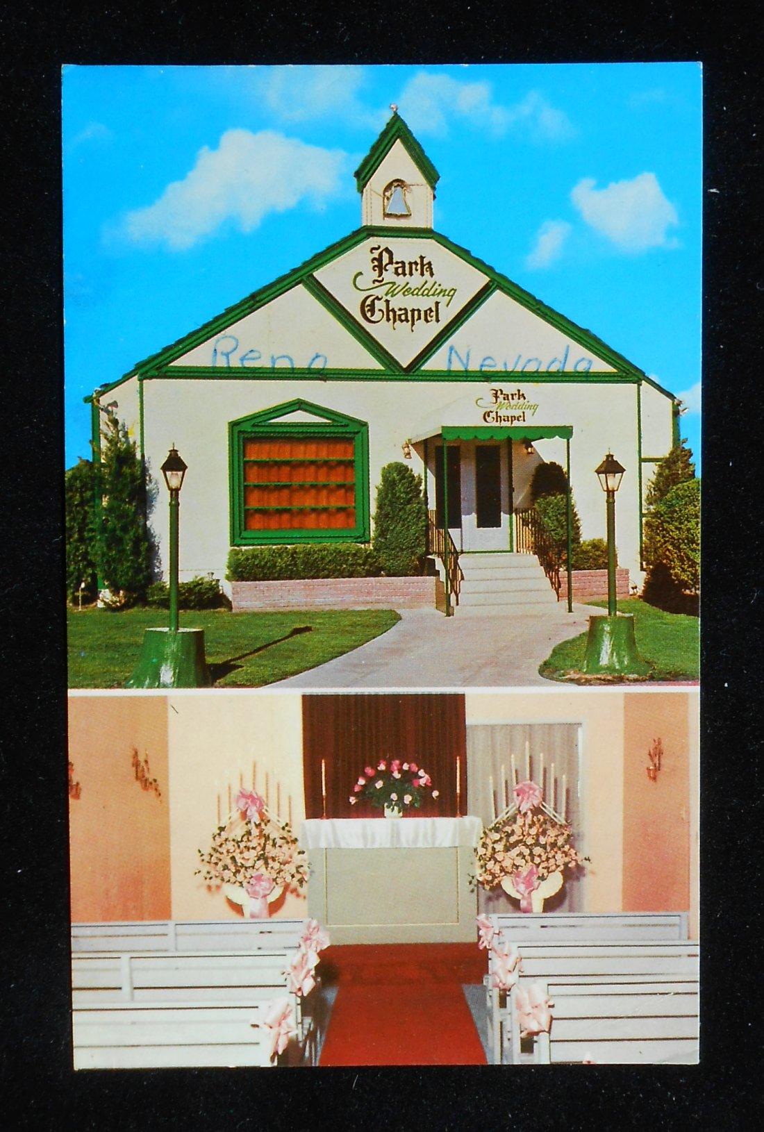 1950s Park Wedding Chapel Reno NV Washoe Co Postcard Nevada