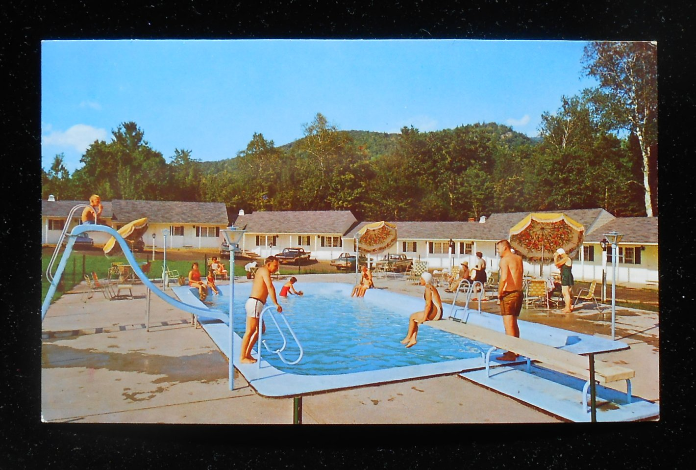 1960s Swimming Pool Storybrook Motor Inn Old Cars Glen Nh Carroll Co Postcard Ebay