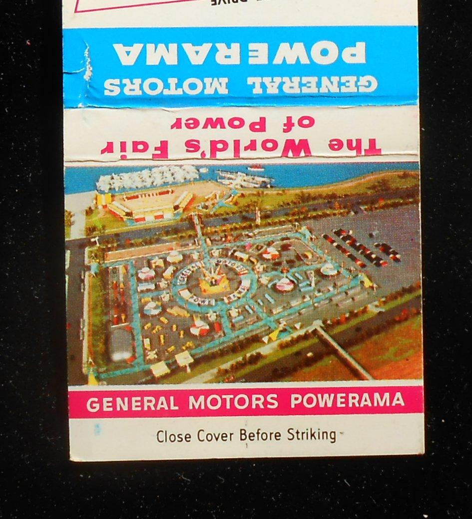 1955 Matchbook Aerial General Motors Powerama World 39 S Fair Of Power Chicago Il Ebay