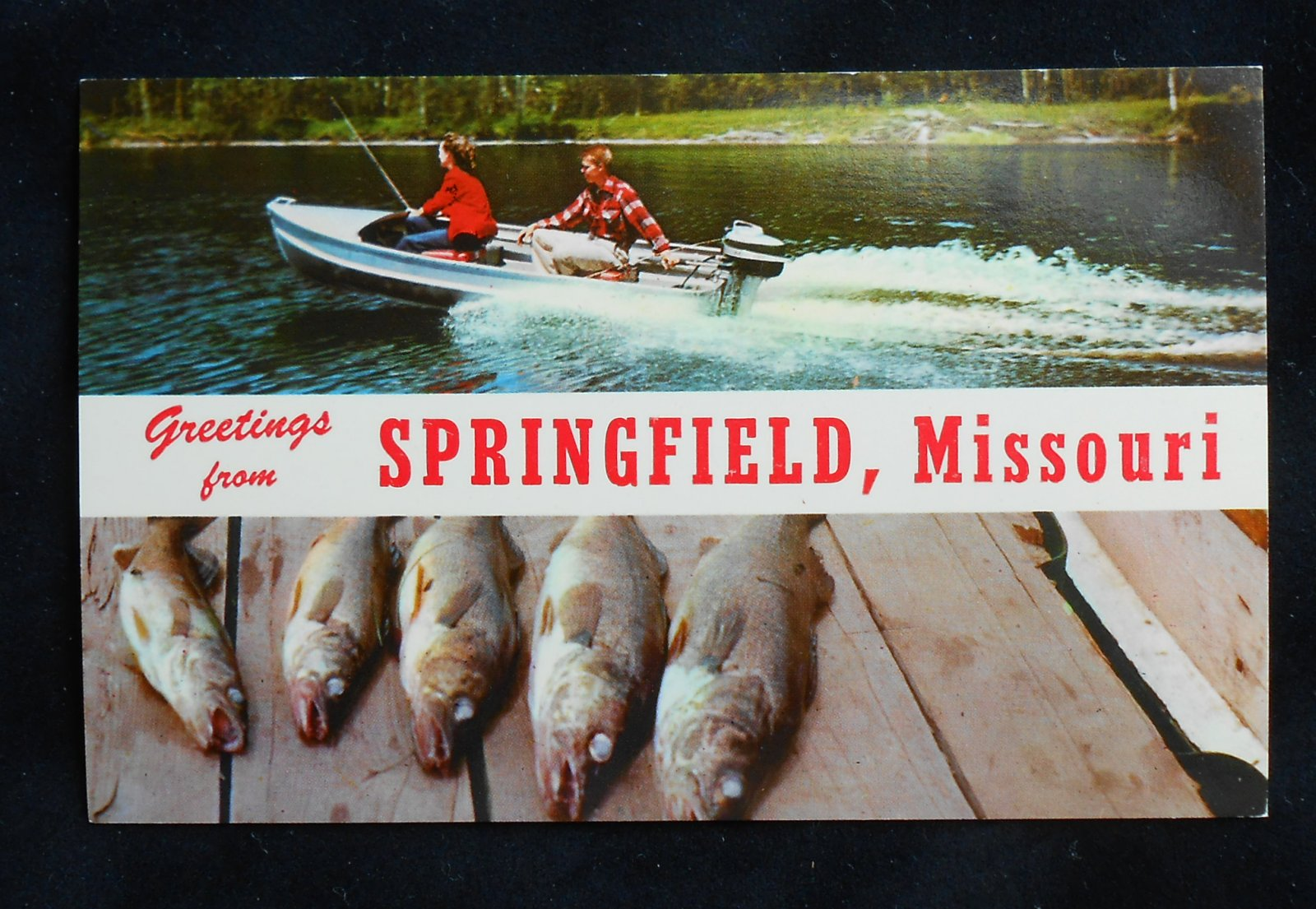 1950s motor boat fishing greetings springfield mo greene for Greenes boat and motor
