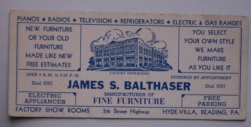 1930s balthaser furniture hyde villa reading pa berks ebay for Furniture reading pa