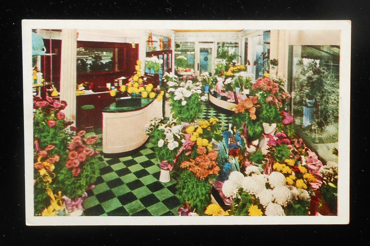 1940s Interior Edgewater Beach Hotel Flower Shop FTD Member Chicago IL Cook C