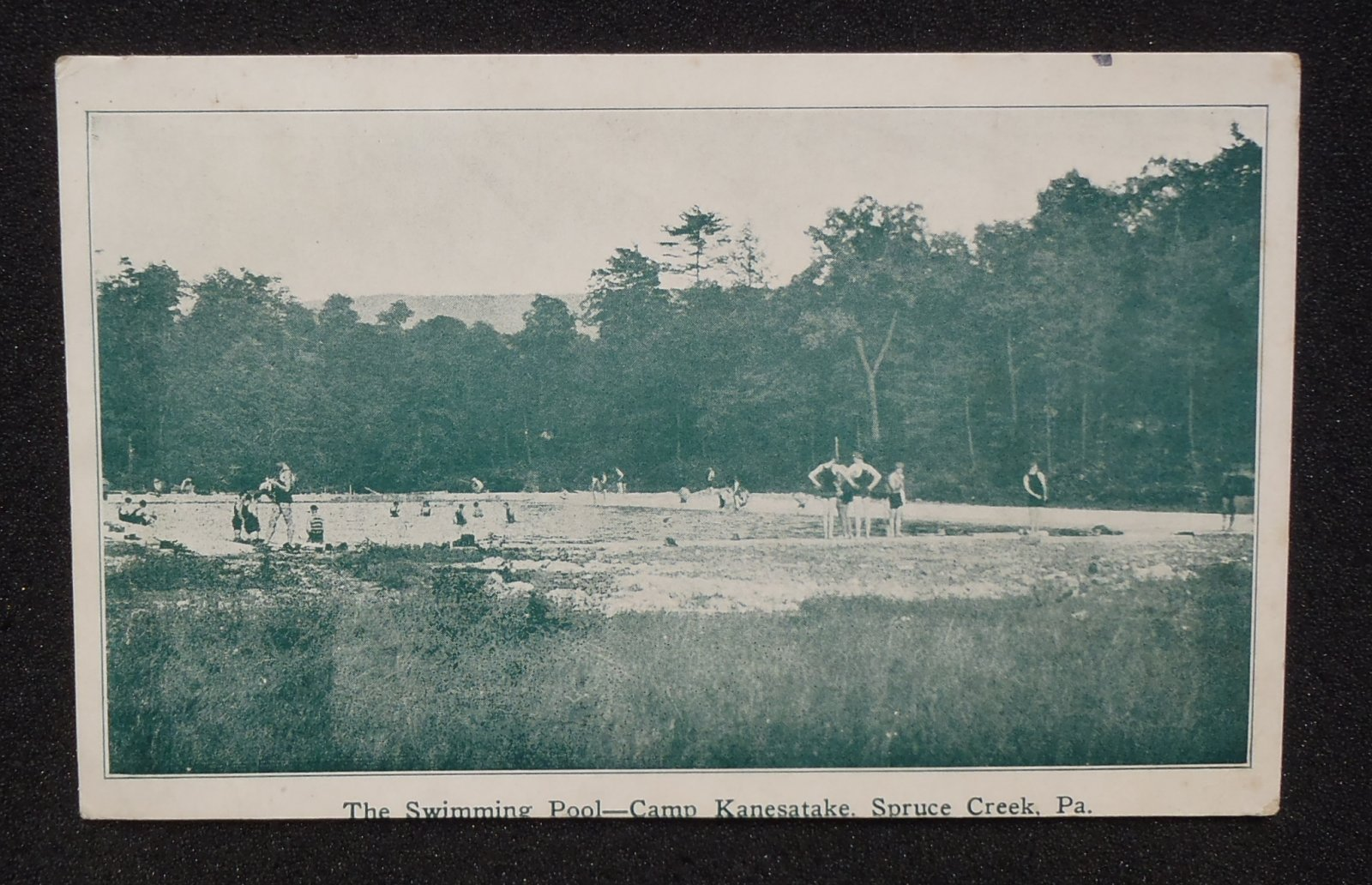 1937 the swimming pool camp kanesatake spruce creek pa huntingdon co postcard ebay Huntingdon swimming pool timetable