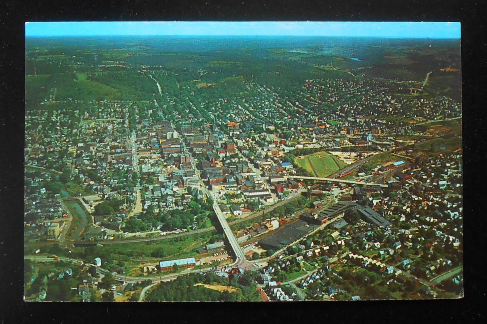 Pennsylvania Air Balloon Mail: 1950s? Aerial View Butler PA Postcard Pennsylvania