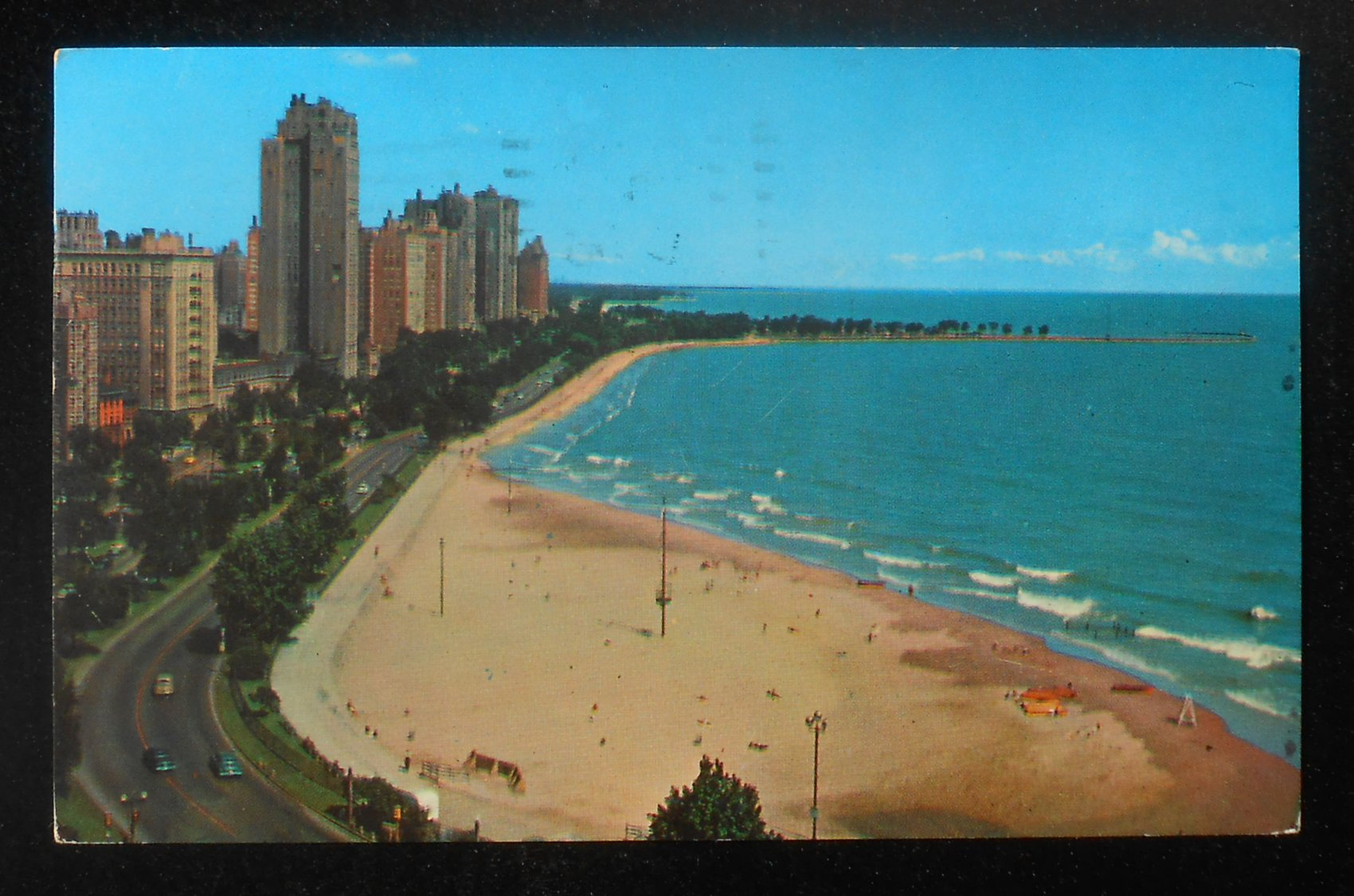 1961 gold coast beach apartment buildings chicago il pc ebay. Black Bedroom Furniture Sets. Home Design Ideas