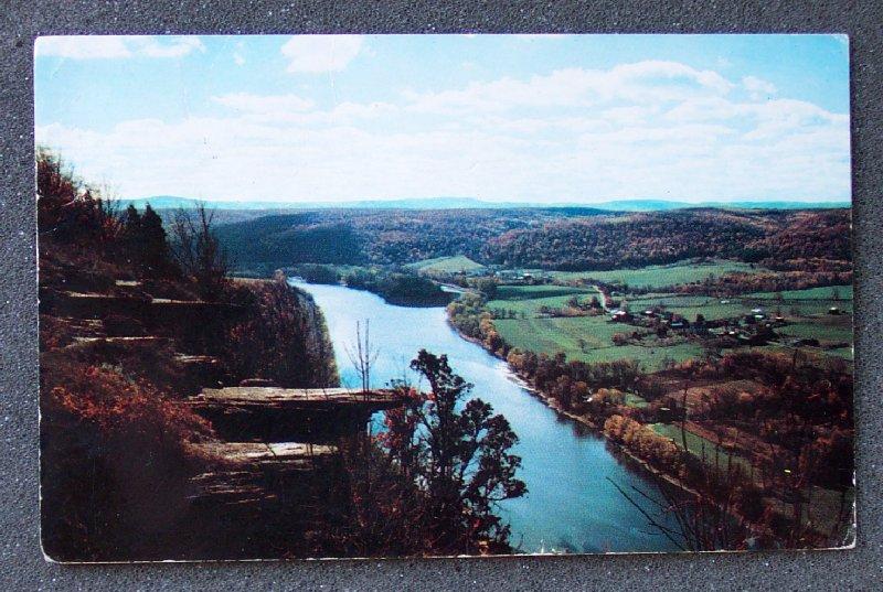 Postcard Wyalusing Rocks Pennsylvania PA Vintage Chrome