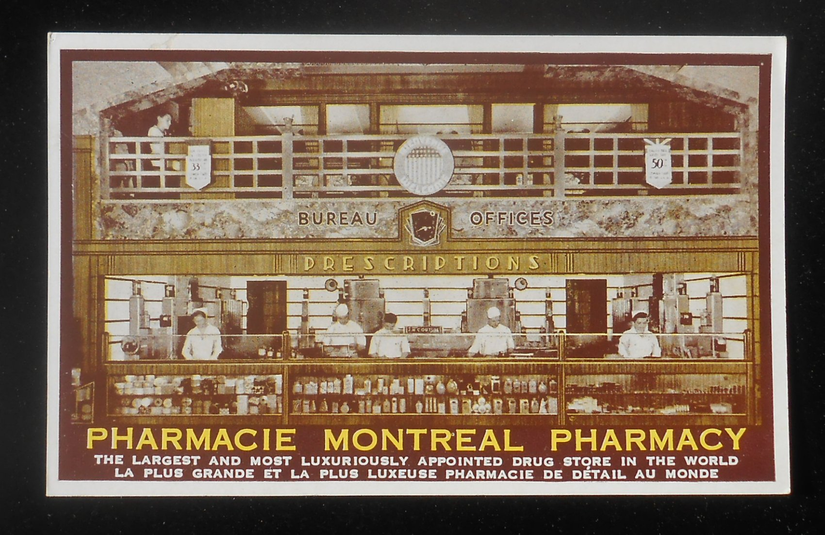 1940s pharmacie drug store bureau offices montreal qc ebay for Bureau quebec montreal