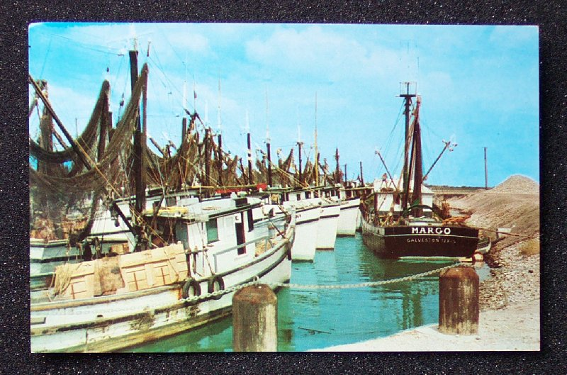 1960s shrimp fishing boats port isabel brownsville tx ebay for Port isabel fishing
