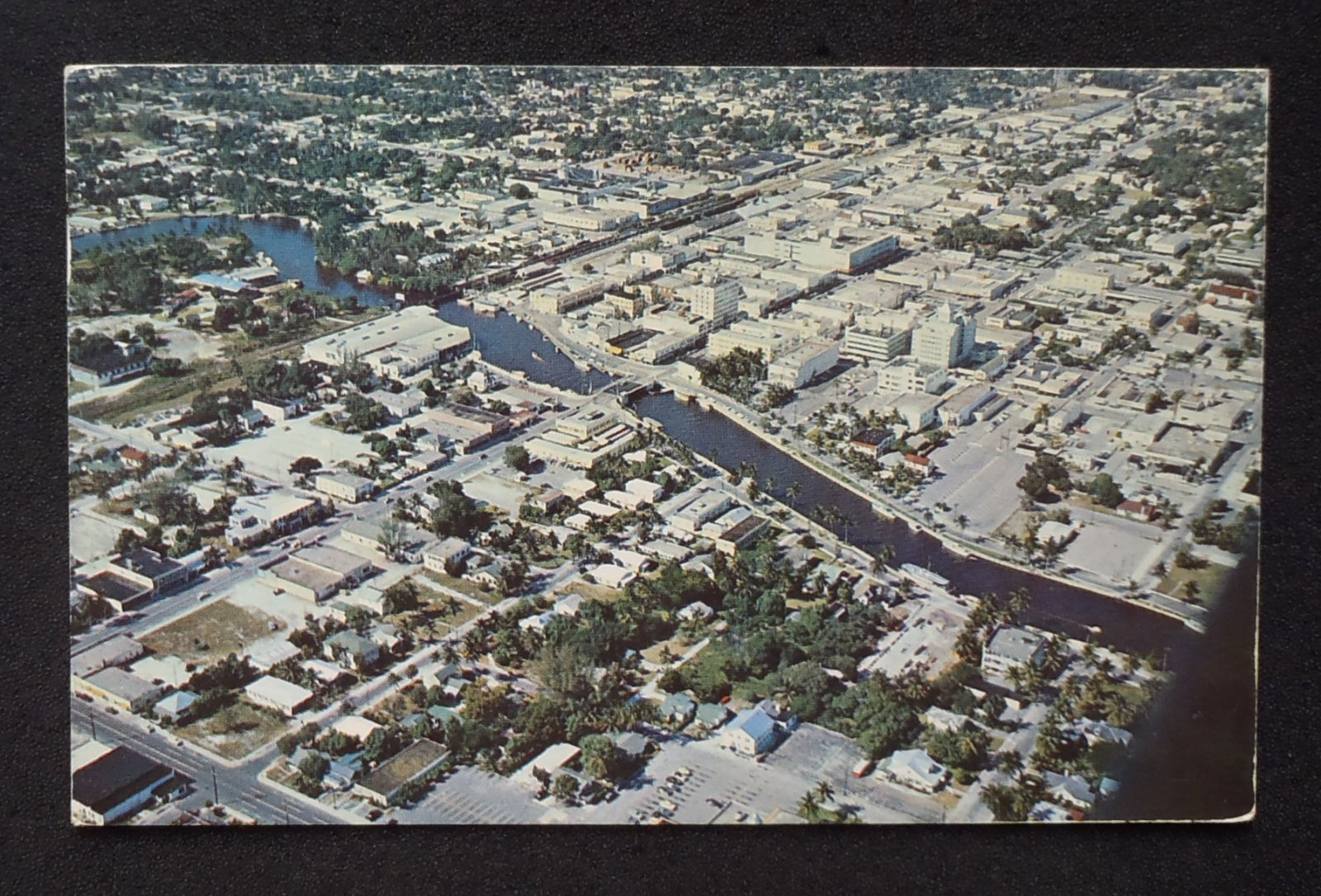 Details about 1956 aerial view b amadeus rubel fort lauderdale fl