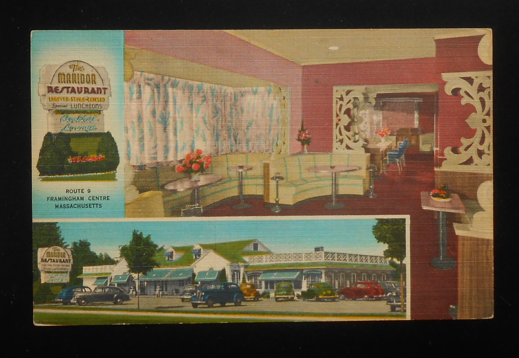 1940s interior the maridor restaurant phone 8737 route 9 old cars framingham ma ebay. Black Bedroom Furniture Sets. Home Design Ideas