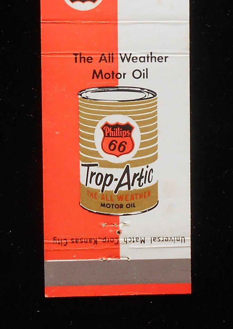 1950s Matchbook Phillips 66 Trop Artic Motor Oil Rock Inn