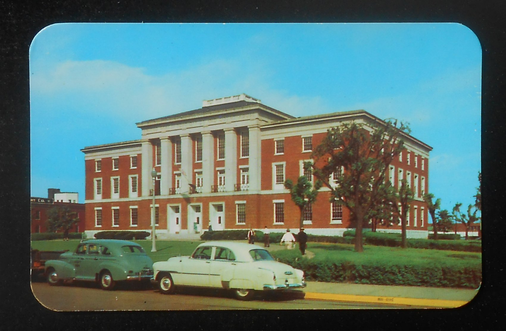 1950s federal building and post office old cars fort smith ar sebastian co pc ebay. Black Bedroom Furniture Sets. Home Design Ideas