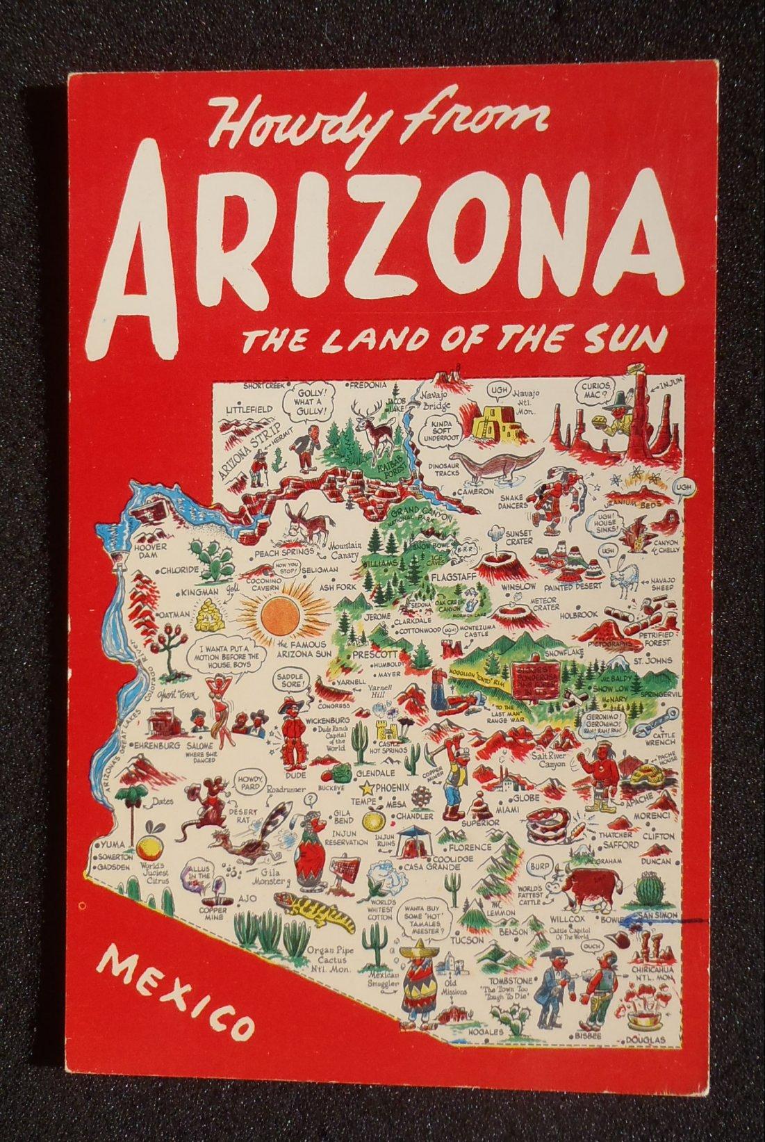 Landmarks Arizona State Arizona State Map 1960