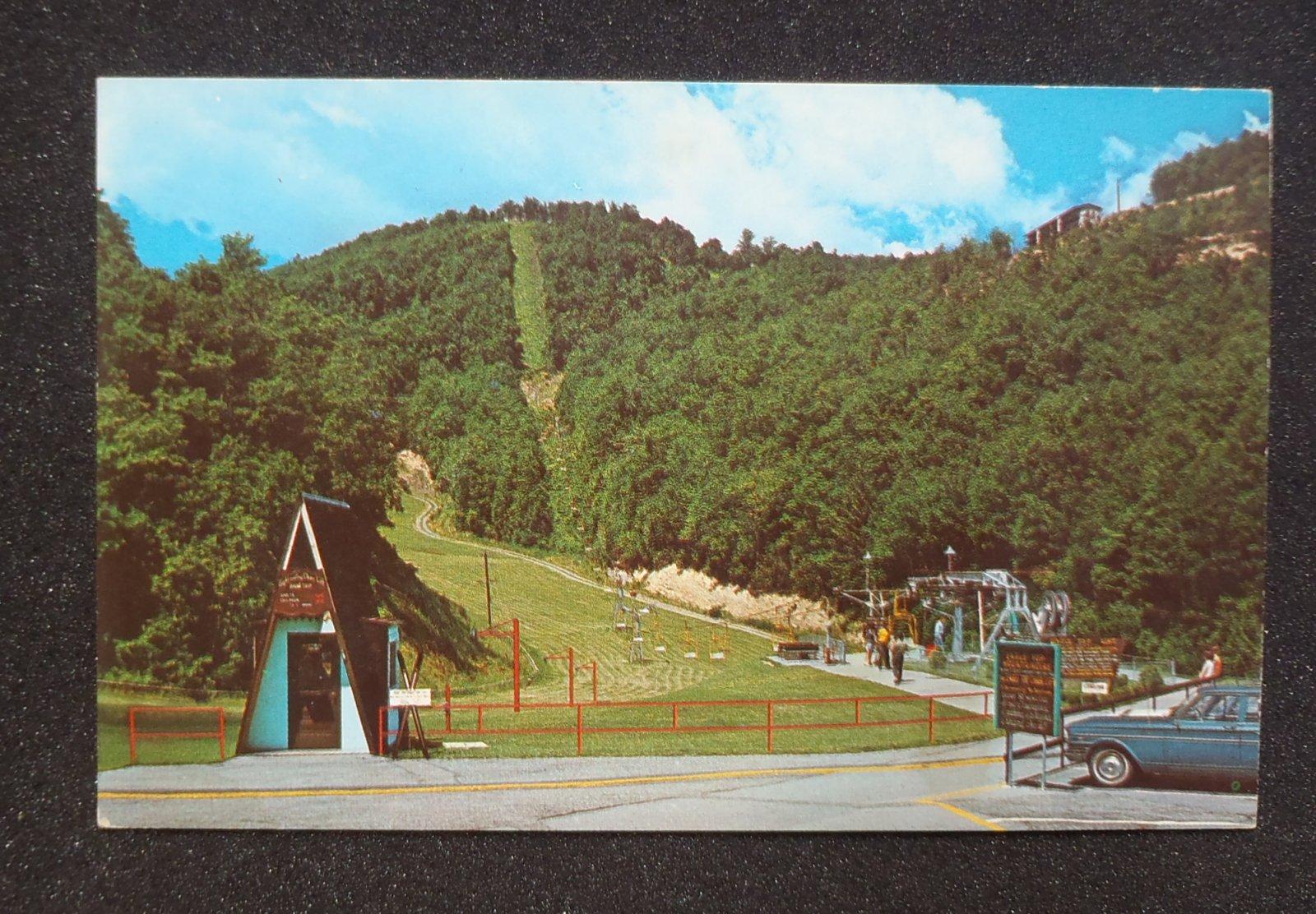 1960s Eagle Top Chair Lift Ski Resort Old Car Gatlinburg Tn Sevier Co Postcard Ebay