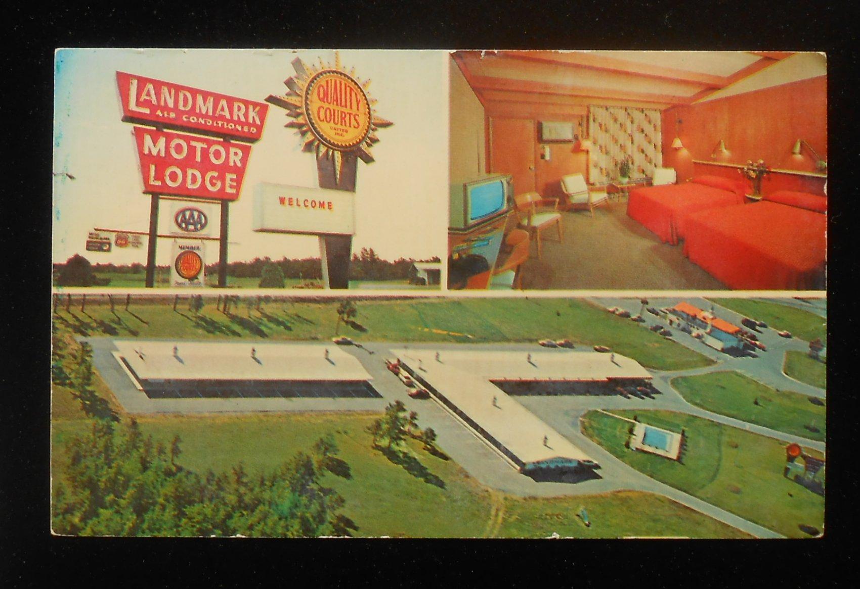 1960s Interior Aerial View Landmark Motor Lodge Howard