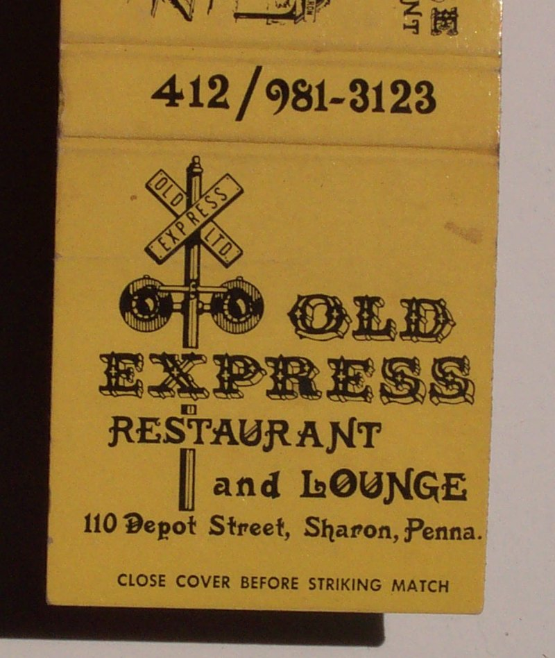 1970s Matchbook Freight House Old Express Sharon Pa Mercer