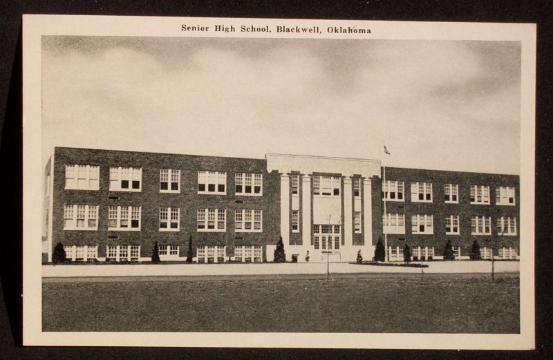 Blackwell (OK) United States  city photo : Details about 1940s Senior High School Blackwell OK Kay Co Postcard